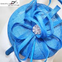 Lapis Blue Pill Box Hat  LH03